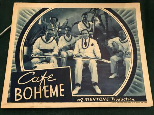 "Cafe Boheme 1939 Universal 11x14"" musical short Hawaiian band"