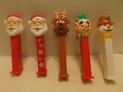 Santa Christmas Themed Bundle Of Five Pez!