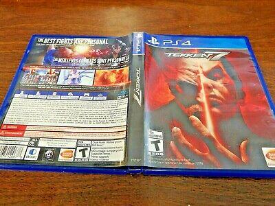 Tekken 7 Sony PlayStation 4 PS4 **GREAT SHAPE** US VERSIONS FAST SHIPPING!!
