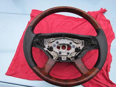 Wurzelholz Lederlenkrad schwarz beheiz 221 460 04 03 Mercedes-Benz S-Klasse W221