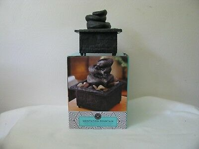 - Modern Expressions Tabletop Meditation Fountain with Lava Rocks