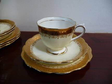 "ROYAL ALBERT - ""Regency"" Pattern - Crown China Tea Trio $48.00"