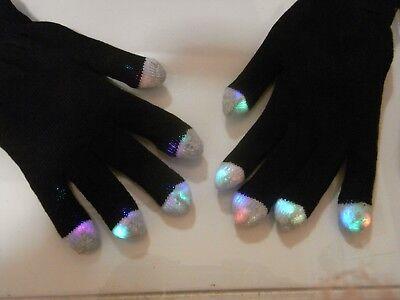 Brand New Flashing black gloves ( 6 light up modes)