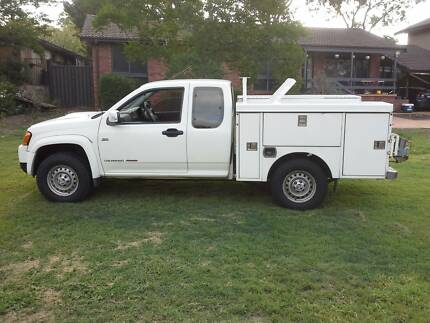 2010 Holden Colorado Space Cab Tradies tray 4x4