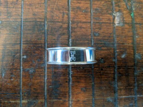 "Vintage Reed & Barton Sterling Silver Napkin Ring(s) ""K"" intiial monogram"