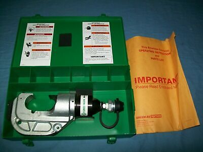 New Greenlee Gator Rk1240 12 Ton Hydraulic Crimping Tool Crimper In Case Unused