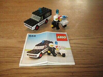 LEGO DENMARK-VINTAGE SET NO. 644 - POLICECAR + POLICE MOTORCYCLE -1970's.