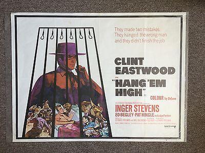 Hang Em High 1968 British Original Movie Poster Folded 40 X 30  Clint Eastwood