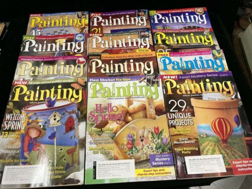 PAINTING WHERE PASSION MEETS PAINTBRUSH, LOT 12 MAGAZINES, 2007-2008, W PATTERNS
