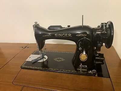 Vintage Singer Sewing Machine With Table & Lamp, used for sale  Shipping to Nigeria