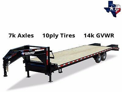 Texas Pride 8 12 X 30 255 Deckover Gooseneck Equipment Trailer 14k Gvwr