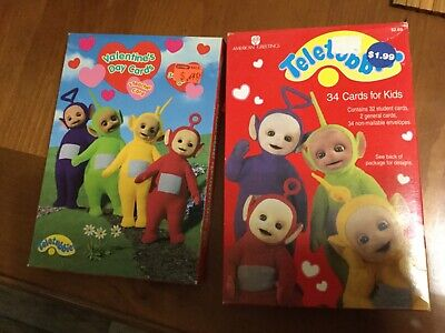 2 BOXES VALENTINE CARDS TELETUBBIES AMERICAN GREETINGS 1999 2000 NOS 2000 Greetings Cards