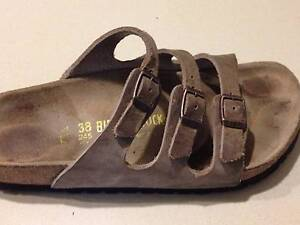 Birkenstock Oiled Leather Florida $179.95rrp - Tobacco Brown Cooks Hill Newcastle Area Preview