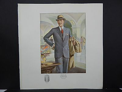 Men's Fashion, Suits, Clothing, 1920's Catalog, One Page, S2#13