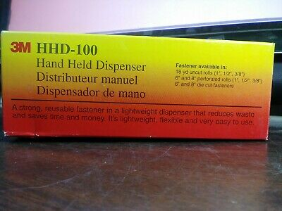 3m Hhd-100 Hand Held Dispenser Used With Scotch 100 Cable Tie Wrap New Lot Of 2