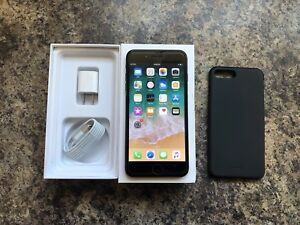 Unlocked iPhone 7 Plus 128GB with Box, Case & Accessories