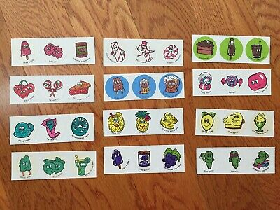 Vintage 1980's Trend Scratch N Sniff Stickers - Lot of 36 Stickers