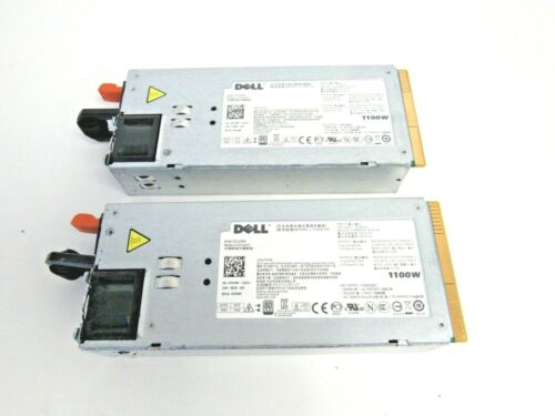 Dell LOT OF 2 0TCVRR TCVRR 01Y45R 1Y45R 1100W Hot Swap Power Supply 38-4