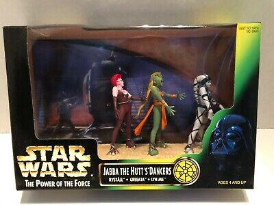 Star Wars POTF Cinema Scenes Jabba the Hutt's Dancers Action Figures Power Force