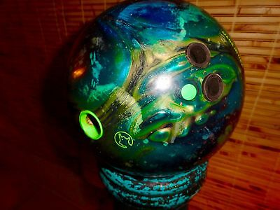 15 Lb Rival Teal Pearl Columbia 300 Bowling Ball Usbc Approved Made In Usa