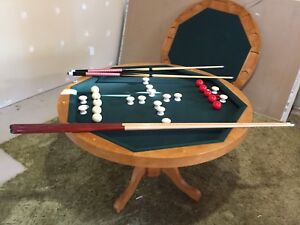 Bumper pool table 3- in -1