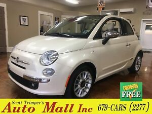 2013 Fiat 500 Lounge/Leather/Conv't