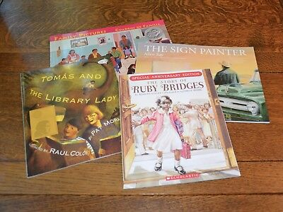 Lot 4  Ruby Bridges Tomas   Library Lady Family Pictures The Sign Painter   New