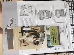 1 week old series 700 dog crate plus black canvas cover Glenella Mackay City Preview