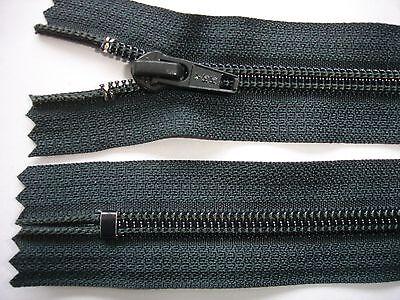 RV 249 Reißverschluß YKK antrazith 16cm , nicht teilbar 2 Stück