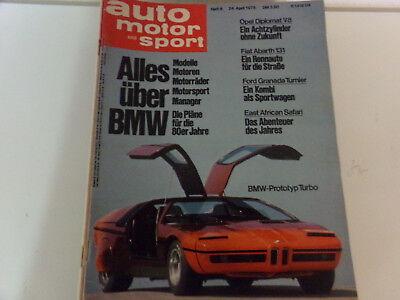 Auto Motor und Sport 1976 Fiat Abarth 131 - Opel Diplomat V8 - Granada Turnier comprar usado  Enviando para Brazil