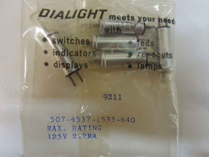 DIALIGHT CLEAR INDICATOR LIGHT 507-4537-1535-640 (5 PCS)