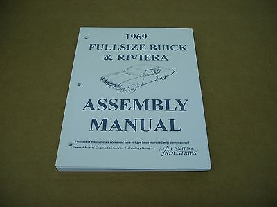 1969 Olds 442 Cutlass and Supreme Factory Assembly Manual 69 Oldsmobile S