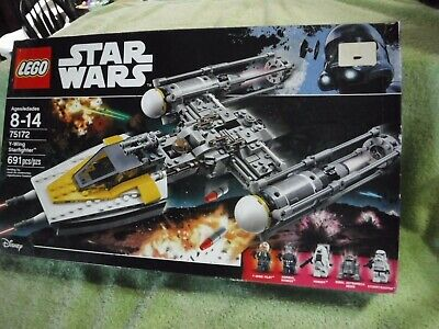New Not opened LEGO Star Wars #75172 Y-Wing Starfighter creased box Free Ship