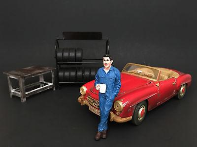 77445 American Diorama 1/18 Mechanic Figure - LARRY TAKING A BREAK for sale  Carson City