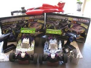 nitro buggys x2, rc boat