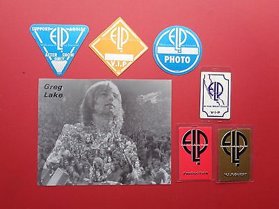 GREG LAKE,ELP,EMERSON LAKE PALMER,promo photo,6 OTTO Backstage passes,Originals,