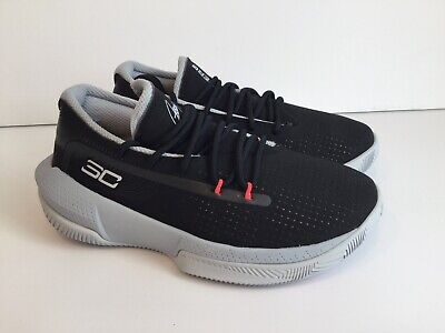 Little Kids Under Armour SC 3ZER0 III Basketball Shoes Black Gray Size 2Y