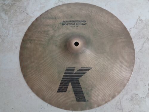 "14"" /36 cm AVEDIS ZILDJIAN K MASTERSOUND BOTTOM HI-HAT CYMBAL MADE IN USA 1414 g"