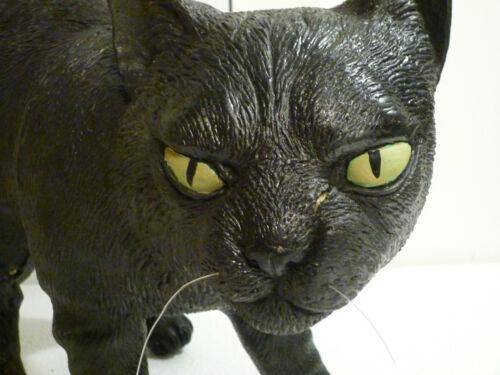 Realistic Black Cat / Kitten, Short Hair - Latex Foam Rubber Halloween Prop