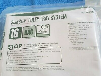 Bard Surestep Foley Tray System 16 Fr A800361 Exp 2021-09