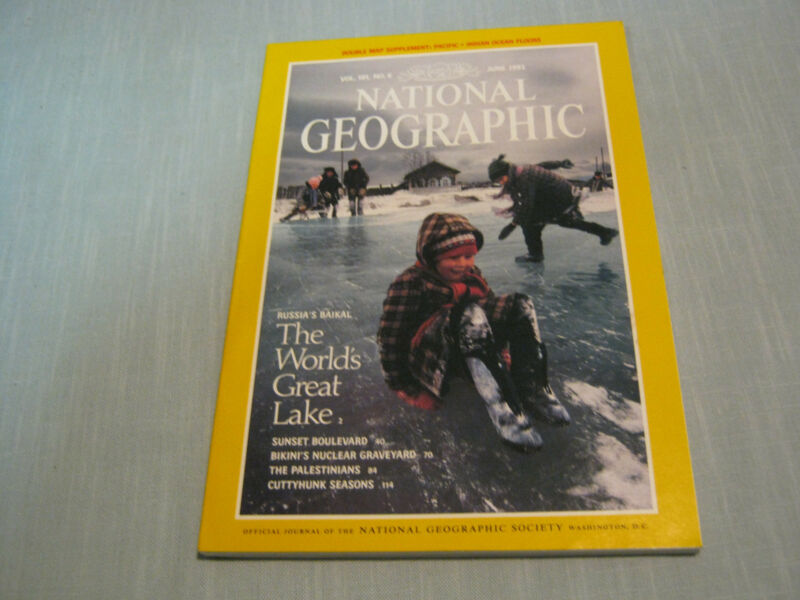 NATIONAL GEOGRAPHIC June 1992  BAIKAL LAKE RUSSIA Palestinians CUTTYHUNK SEASONS