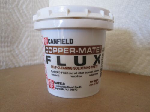 Canfield Copper Mate Self Cleaning Flux Paste 4 oz, FAST, FREE SHIPPING!
