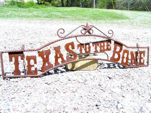 TEXAS to the BONE Entry Sign, Wall, Gate 44 3/4 inch