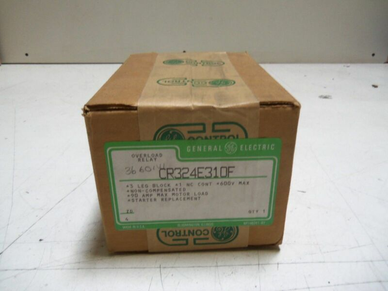 GENERAL ELECTRIC CR324E310F OVERLOAD RELAY BLOCK  *FACTORY SEALED*