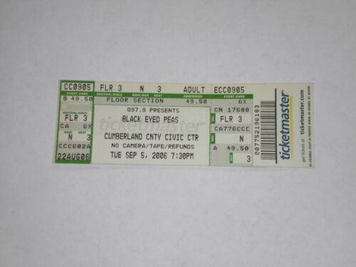 Black Eyed Peas The Pussycat Dolls Concert Ticket Stub-2006-Portland,ME