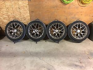 18x8.5 TSW Nurburgring Wheel and Tire Package 5x112