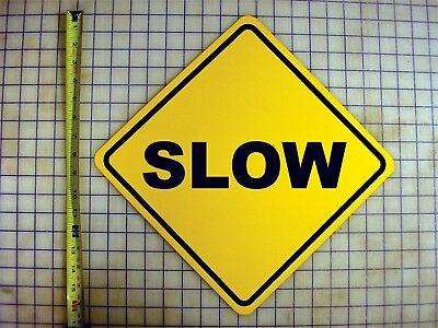 SLOW AHEAD YELLOW ALUMINUM SIGN Ahead Yellow Sign