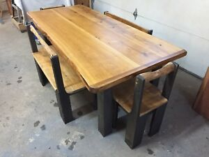 Cedar top set with live edge