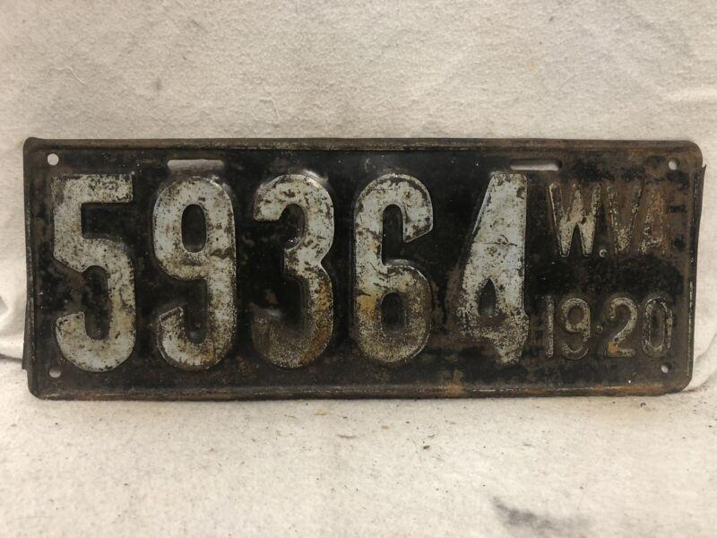 Vintage 1919/1920 West Virginia License Plate