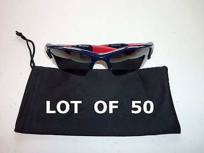 Lot of 50 Dust Bags Sunglasses and Glasses - Black with string microfiber (Sunglasses With String)